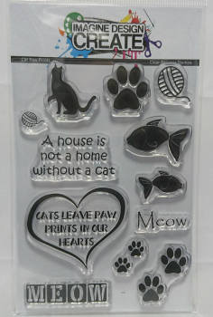 Cat Paw Prints: IDC - A6 Stamp set