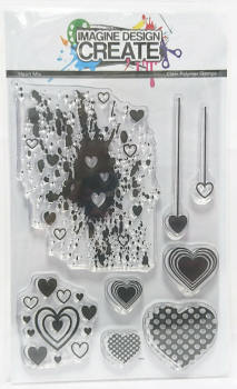 Heart Mix: IDC - A6 Stamp set