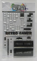 Retro Gamer -A6  Stamp set