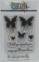 Butterfly Blot (mini):  A7 stamp set