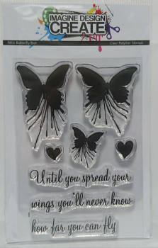 Butterfly Blot (mini):  A7 stamp set