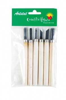 U-Art Wood & Linoleum Engraving Tools Set of 6