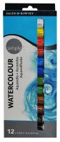 Daler Rowney Simply Watercolour 12 x 12ml tubes.