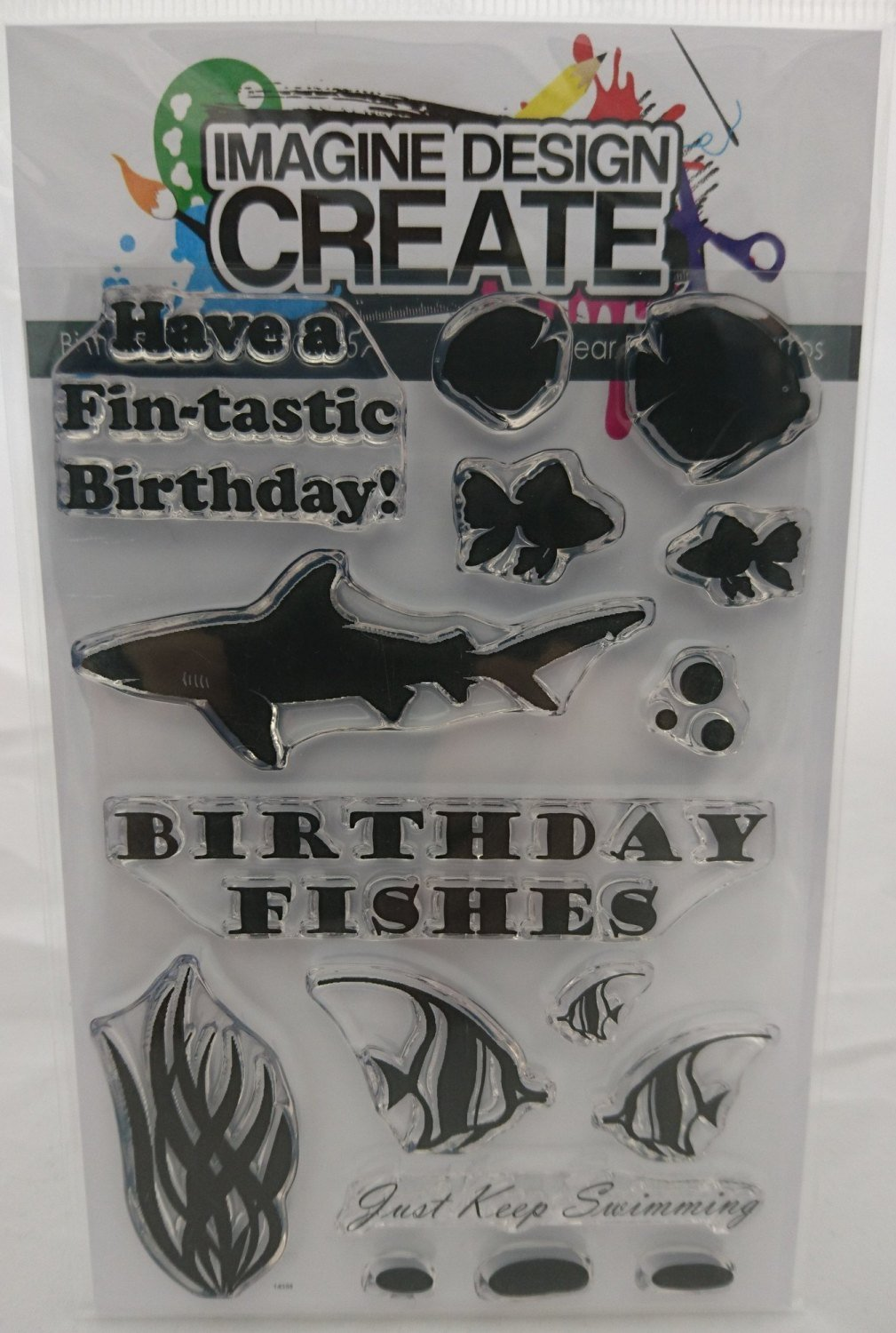 Birthday Fishes - Stamps