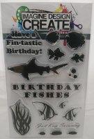Birthday Fishes: IDC0057 - A6 Stamp set