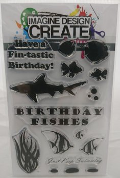 Birthday Fishes: IDC0057 - A6 Stamp set