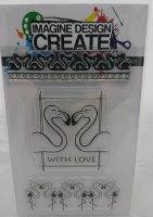 Flamingo Love: IDC0103 -A6  Stamp set
