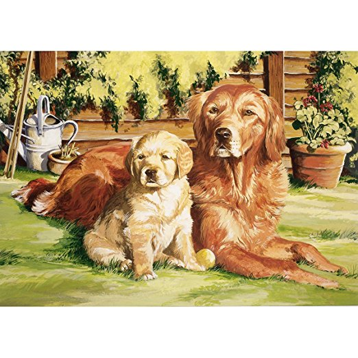 Reeves Painting by Numbers Dogs Life.