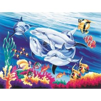 Reeves Underwater Dolphins Large Paint by Numbers