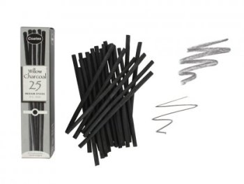 Coates Willow Charcoal - 25 sticks