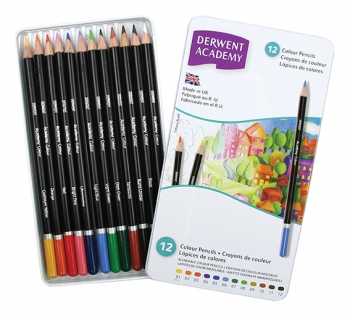 Derwent Academy - 12 Colour Pencils