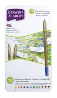 Derwent Academy - 12 Watercolour Pencils