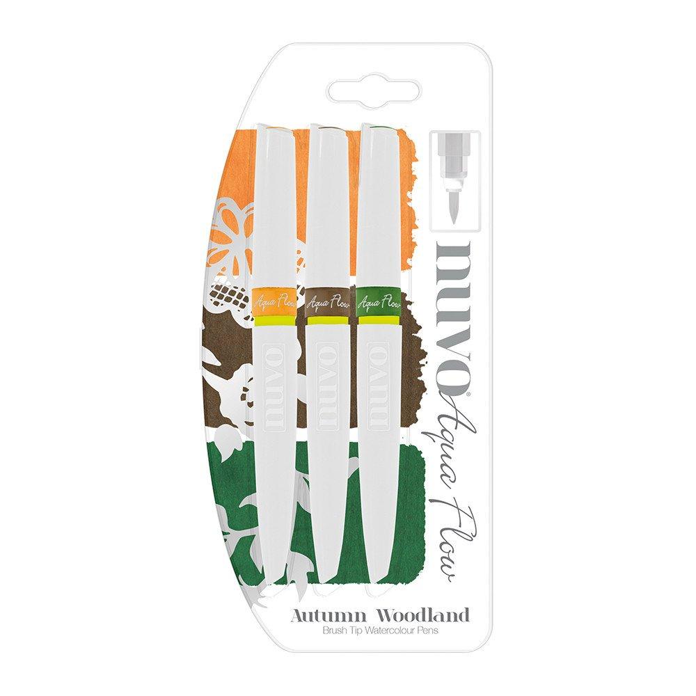 Nuvo Aqua flow Watercolour Pens - Autum Woodland