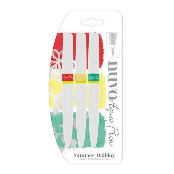 Nuvo Aqua Flow Watercolour Pens - Summer Holiday