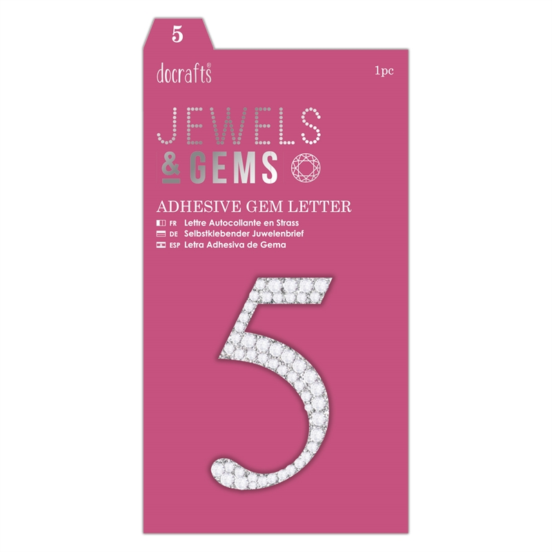 docrafts Jewels & Numbers - 5