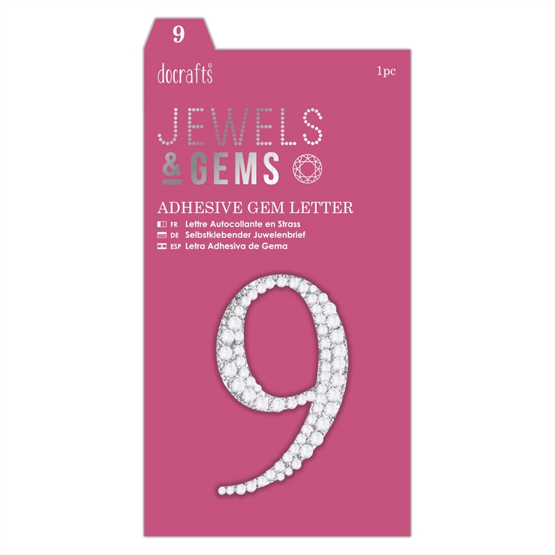 docrafts Jewels & Numbers - 9