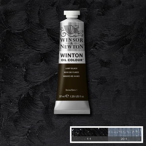 Winton Oil Colour - Lamp Black