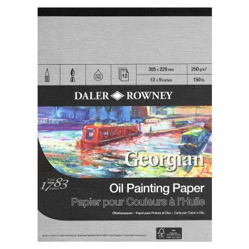 "Daler Rowney Georgian Oil Painting Paper - 12"" x 9"" (305mm x 229mm)"