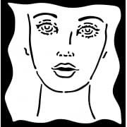"Indigoblu Stencil - Face I (6""x 6"")"