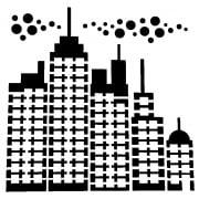 """Indigoblu Stencil - Cityscape (6""""x 6"""")"""