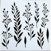 "Indigoblu Stencil - Laurel Leaves (6""x 6"")"