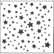 "Indigoblu Stencil - Stars (6""x 6"")"