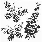 """Indigoblu Stencil - Wild Butterflies (6""""x 6"""")"""