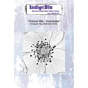 Indigoblu Colour Me - Anenome A6 Red Rubber Stamp