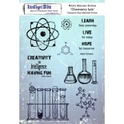 Indigoblu Chemistry Lab A5 Red Rubber Stamp