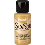 DecoArt SoSoft Fabric Paint - Antique Gold