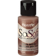 DecoArt SoSoft Fabric Paint - Burnt Sienna