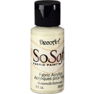 DecoArt SoSoft Fabric Paint - Buttermilk