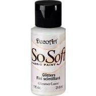 DecoArt SoSoft Fabric Paint - Glimmer