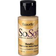 DecoArt SoSoft Fabric Paint - Glorious Gold
