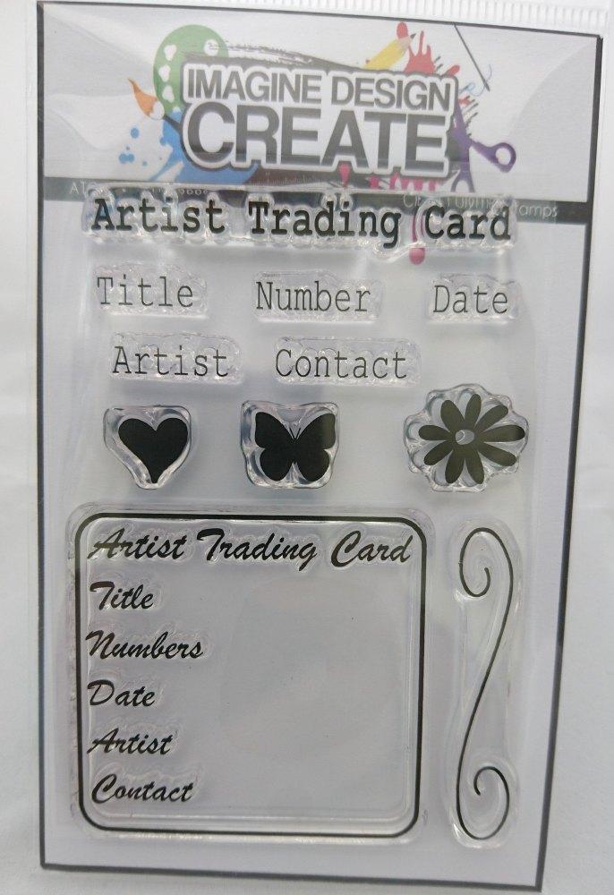 ATC / Artist Trading Card Stamp set 4