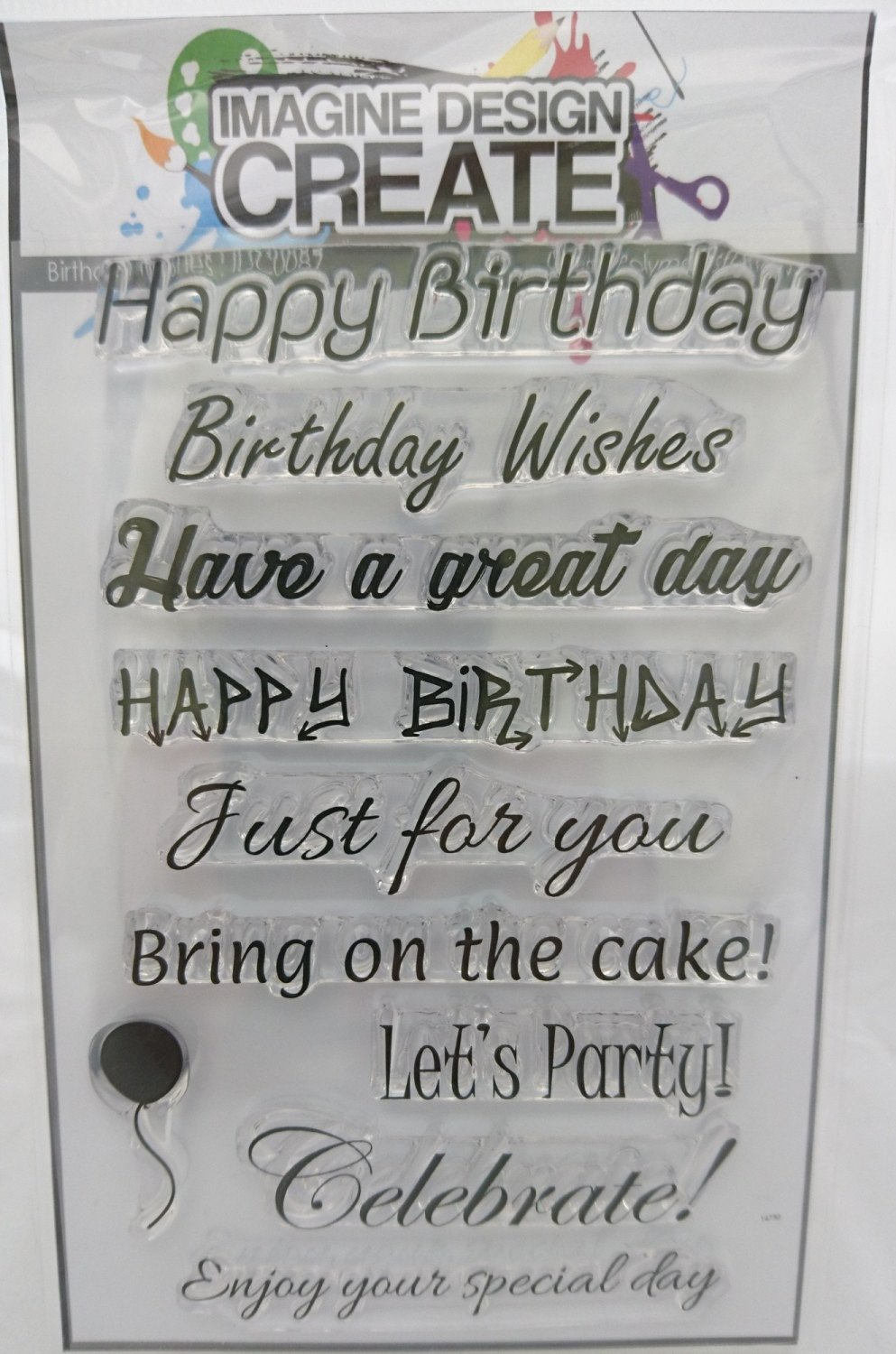 Birthday Wishes sentiments A6 stamp set