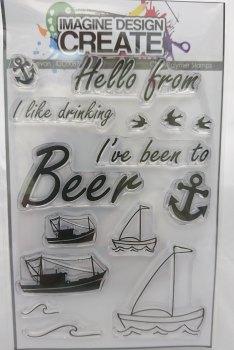 Beer, Devon: IDC0060- A6 stamp set