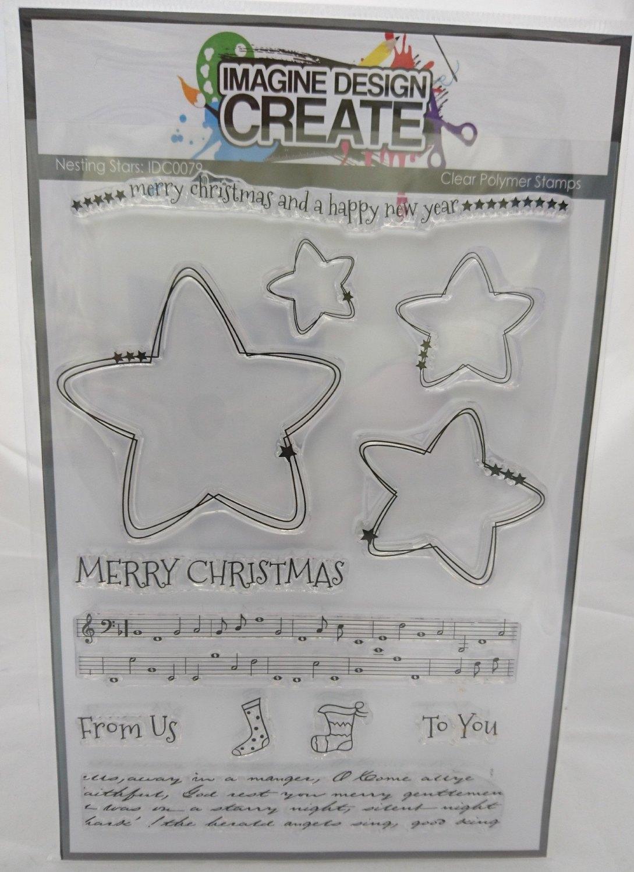 Nesting Stars A5 stamp set