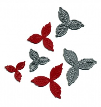 Britannia Dies- Set of 3 Poinsettia's