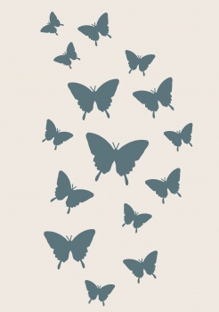 Sentimentally Yours from Phill Martin Stencil Collection - Butterfly Cascad