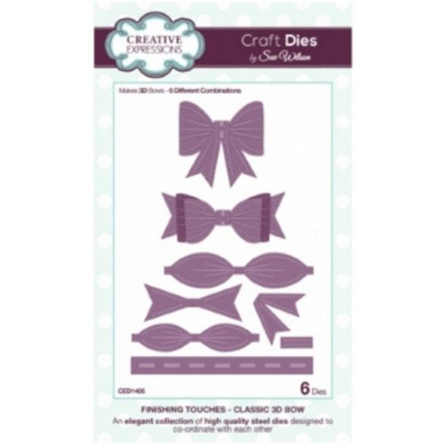 Creative Expressions Craft Dies by Sue Wilson - CLassic 3D bows