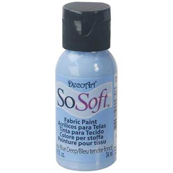 DecoArt SoSoft Fabric Paint - Baby Blue Deep
