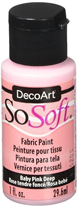DecoArt SoSoft Fabric Paint - Baby Pink Deep