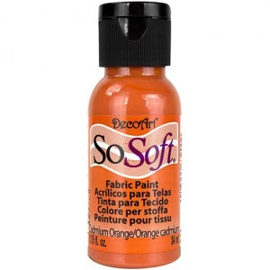 DecoArt SoSoft Fabric Paint - Cadmium Orange