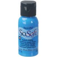 DecoArt SoSoft Fabric Paint - Ocean Blue