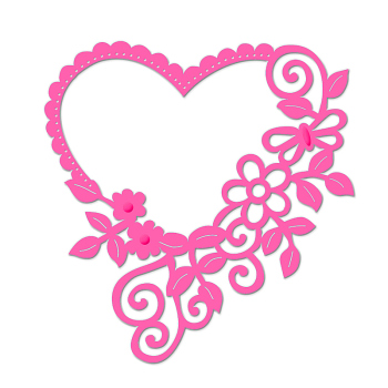 Sweet Dixie Die - Floral Heart Frame