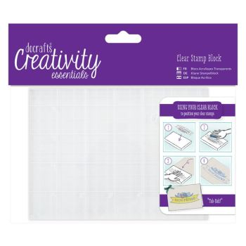 docrafts Creativity Clear Stamp Block - A6