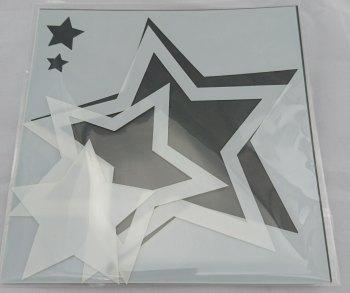 "Star Frames 6x6"" Stencil / Mask"