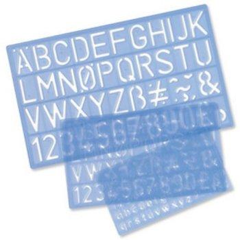 Helix Lettering Stencils - 10mm, 20mm & 30mm