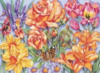 Reeves Floral Large Paint by Numbers